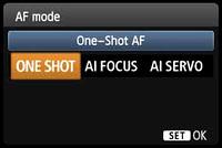 canon focusing modes